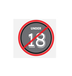 18 age restriction sign no entry vector