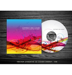 abstract cd cover design vector image