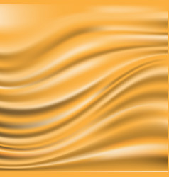 abstract yellow fabric satin wave blank luxury vector image