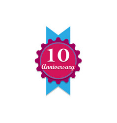 anniversary 10 years multicolored icon can be vector image