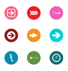 arrowhead icons set flat style vector image