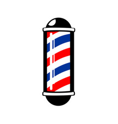 Barbers pole stripes vector