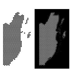 Belize map hex tile mosaic vector