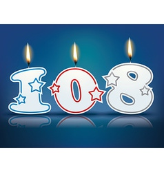 Birthday candle number 108 vector