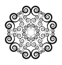 black and white circular round mandala vector image