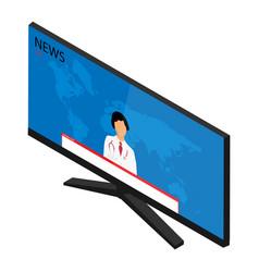 breaking news tv interview with medicine doctor vector image