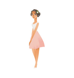 Bridesmaid on wedding ceremony isolated vector