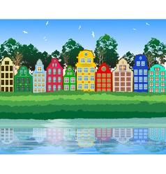 Bright Suburban Landscape vector