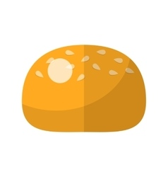 Bun flat icon vector