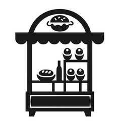 burger kiosk icon simple style vector image