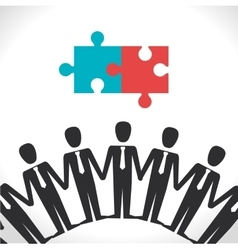 Business teamwork and leadership vector image