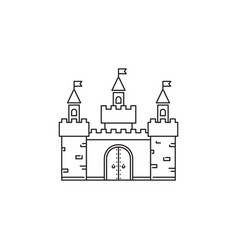 castle icon linear design isolated on white vector image