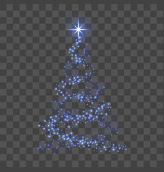 Christmas tree 3d for card transparent background vector