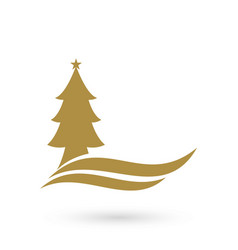 christmas tree logo template vector image