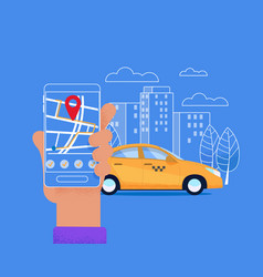 city taxi mobile service modern urban layout vector image
