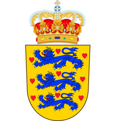 Coat of arms of denmark vector