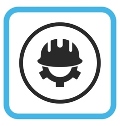 Development Helmet Icon In a Frame vector image
