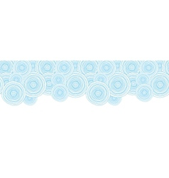 Doodle circle water texture horizontal border vector