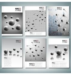 Drops molecule structure Brochure flyer or report vector