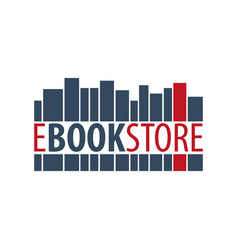 e book store logo education and book emblem vector image