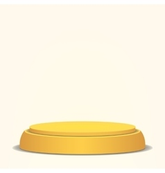Empty Podium Yellow 3D Stage Realistic vector