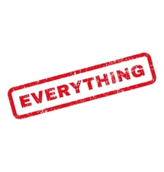 Everything Text Rubber Stamp vector image