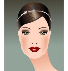 Female Background Portrait of Young Woman vector