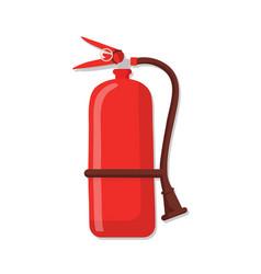 Fire extinguisher flat vector