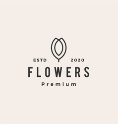 flower hipster vintage logo icon vector image