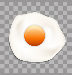 fried egg with style isolated on transparent vector image