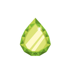 Gemstone esmerald jewel vector