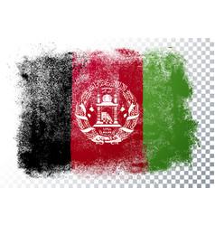 Grunge flag afghanistan vector