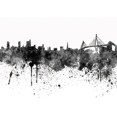 Hamburg skyline in black watercolor on white vector