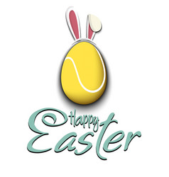 happy easter tennis ball in form a egg vector image