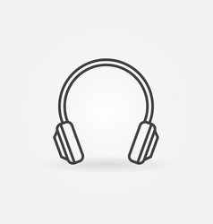 Headphone isolated modern icon in thin line vector