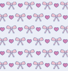 heart and decorative bow background vector image