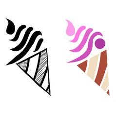 ice cream colored mascot logo premium image vector image