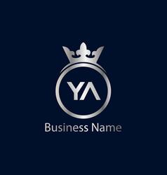 Initial letter ya logo template design vector