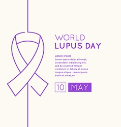 Inscription Lupus Day vector image