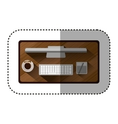 Isolated computer device design vector