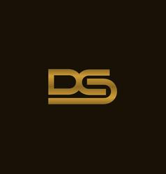 letter ds creative business modern logo vector image