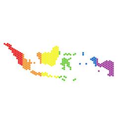 lgbt spectrum dot indonesia map vector image