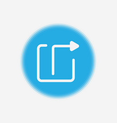 log out icon sign symbol vector image