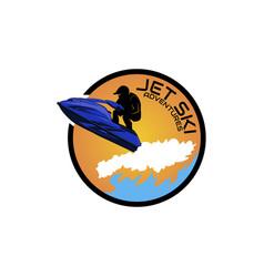 logo jet ski scooter vector image
