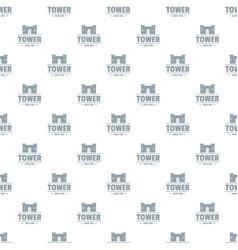 Luxury tower pattern seamless vector