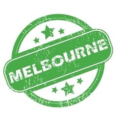 Melbourne green stamp vector