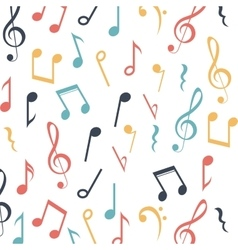 Music note background design vector