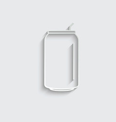 Paper soda can icon vector