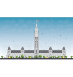 Parliament Building in Ottawa Canada vector