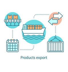 Products export concept icon vector